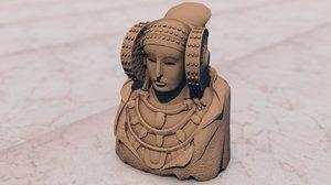 dama elche statue model