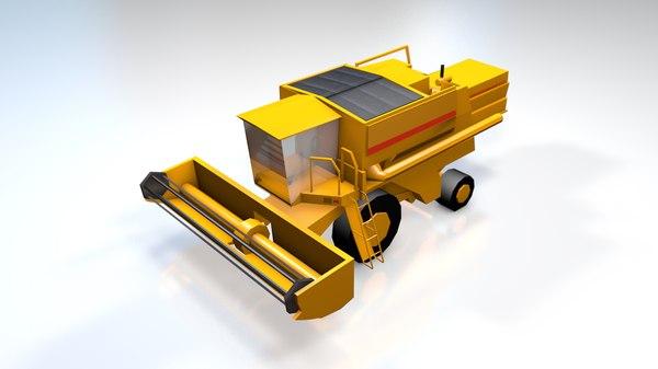 3D harvester generic equipment model