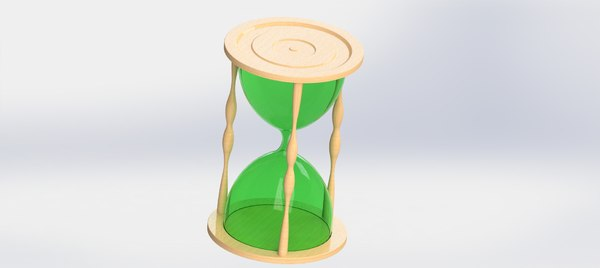 3D model sandglass