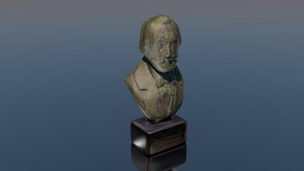 3D giuseppe verdi bust statue
