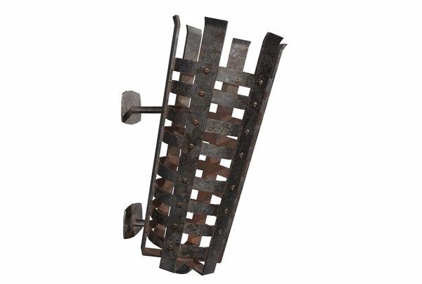 3D iron brazier pbr
