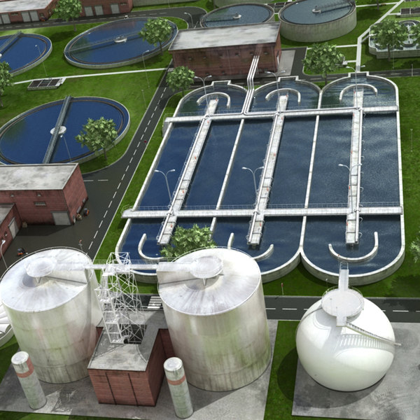 realistic water treatment plant model