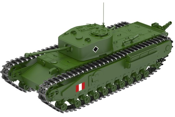 churchill crocodile tank 3D model