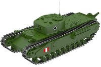 churchill crocodile tank 3D model