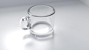 glass cup indoor 3D model