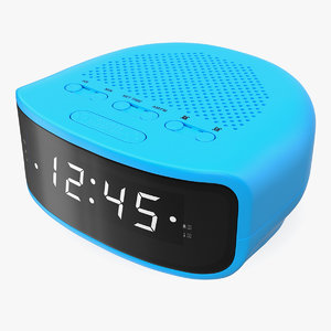 3D model digital clock radio generic