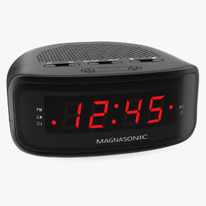 3D digital clock radio magnasonic