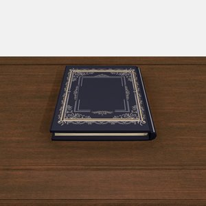 3D model book ornament paper