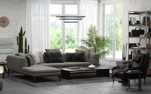 3D interior scene 01 - model