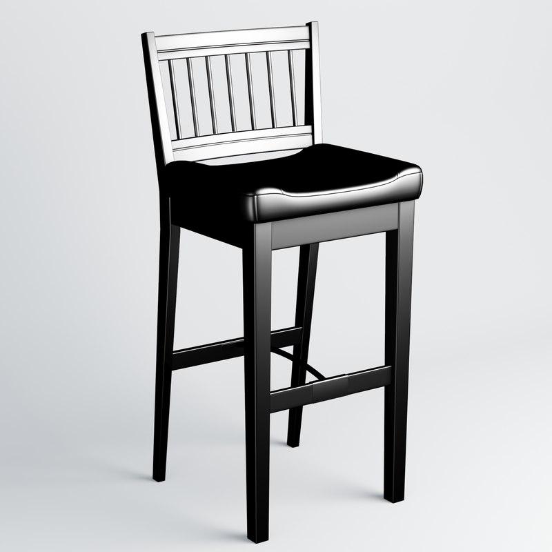 3D model chair tall