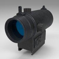 rifle gun red dot 3D model