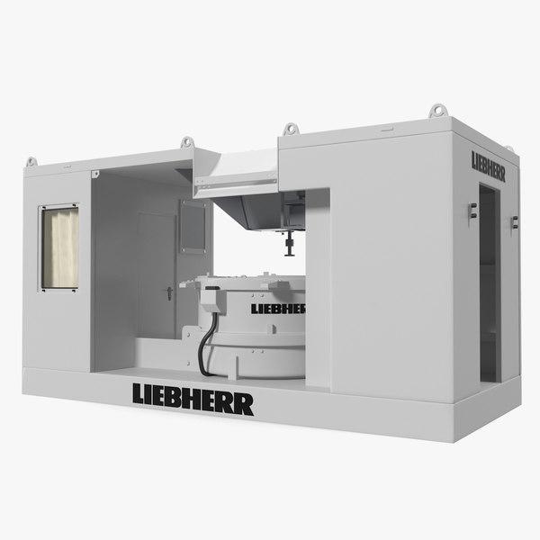 3D model liebherr mobile ring-pan mixer