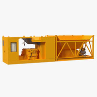 mobile concrete batching plant 3D model