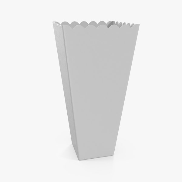 3D paper popcorn cup generic
