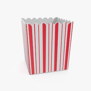 popcorn box corn 3D