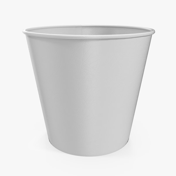 popcorn bucket generic popped 3D model