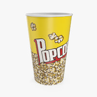 popcorn cup popped corn model