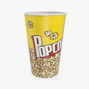popcorn cup popped corn model