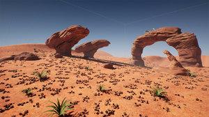 desert stylized pack 3D