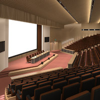 lecture hall 3D model