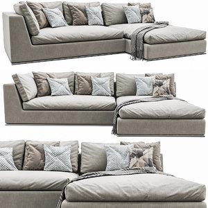 hamilton corner sofa 3D model