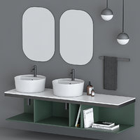 Sink Cielo with decor