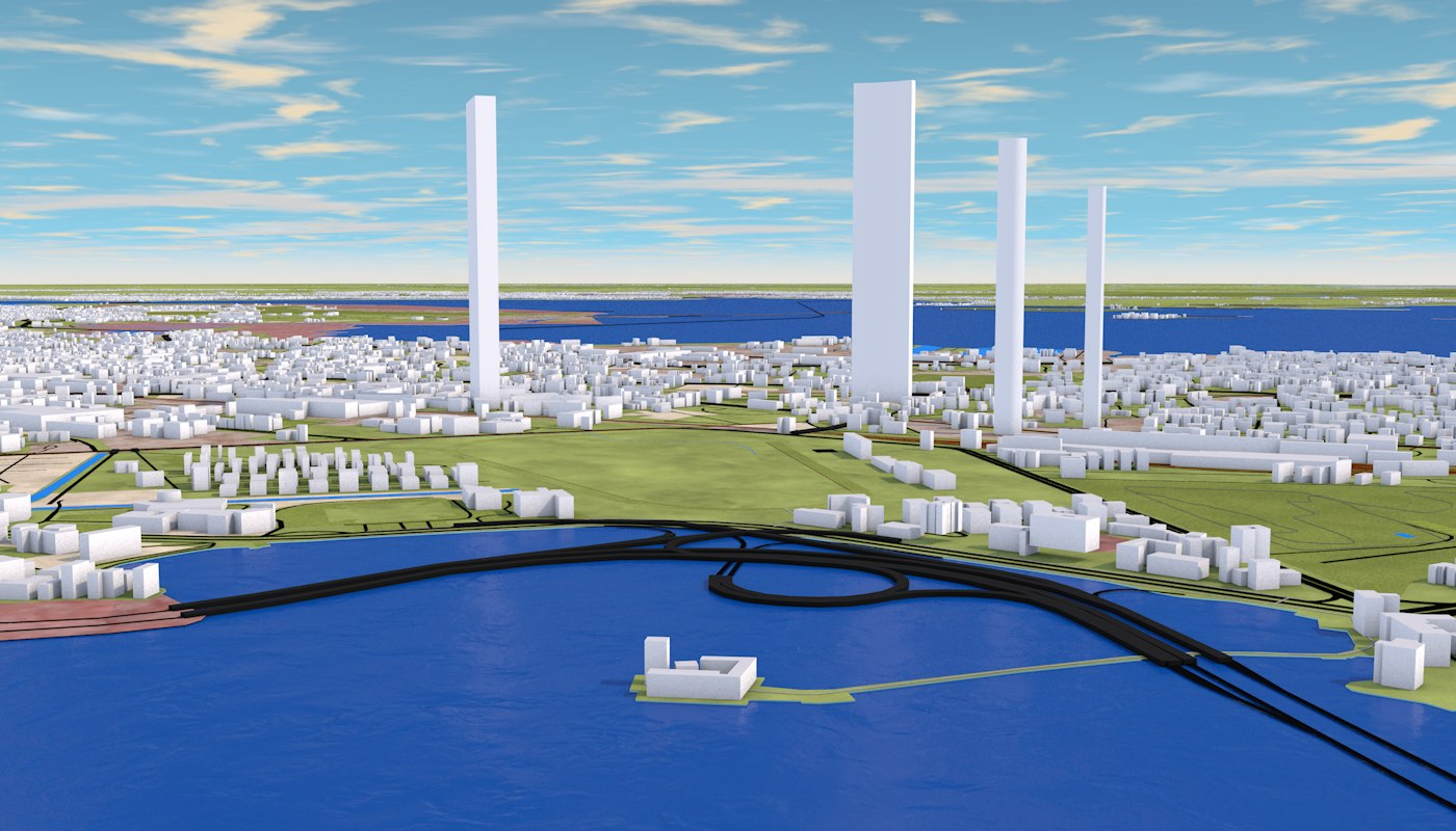 MUMBAI CITY 3D MODEL