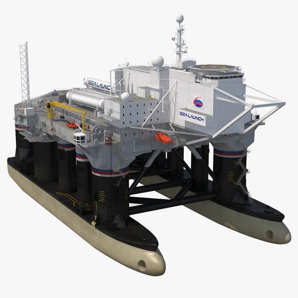 3D odyssey sea launch platform