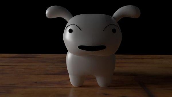 3D shinchan s dog shiro model
