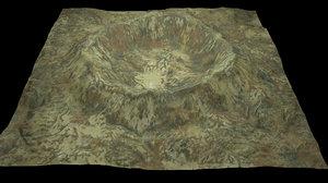 3D crater 1