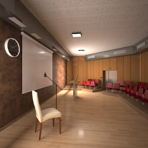 projection room interior 3D