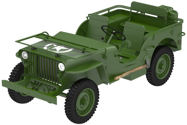 army willys 1941 3D model
