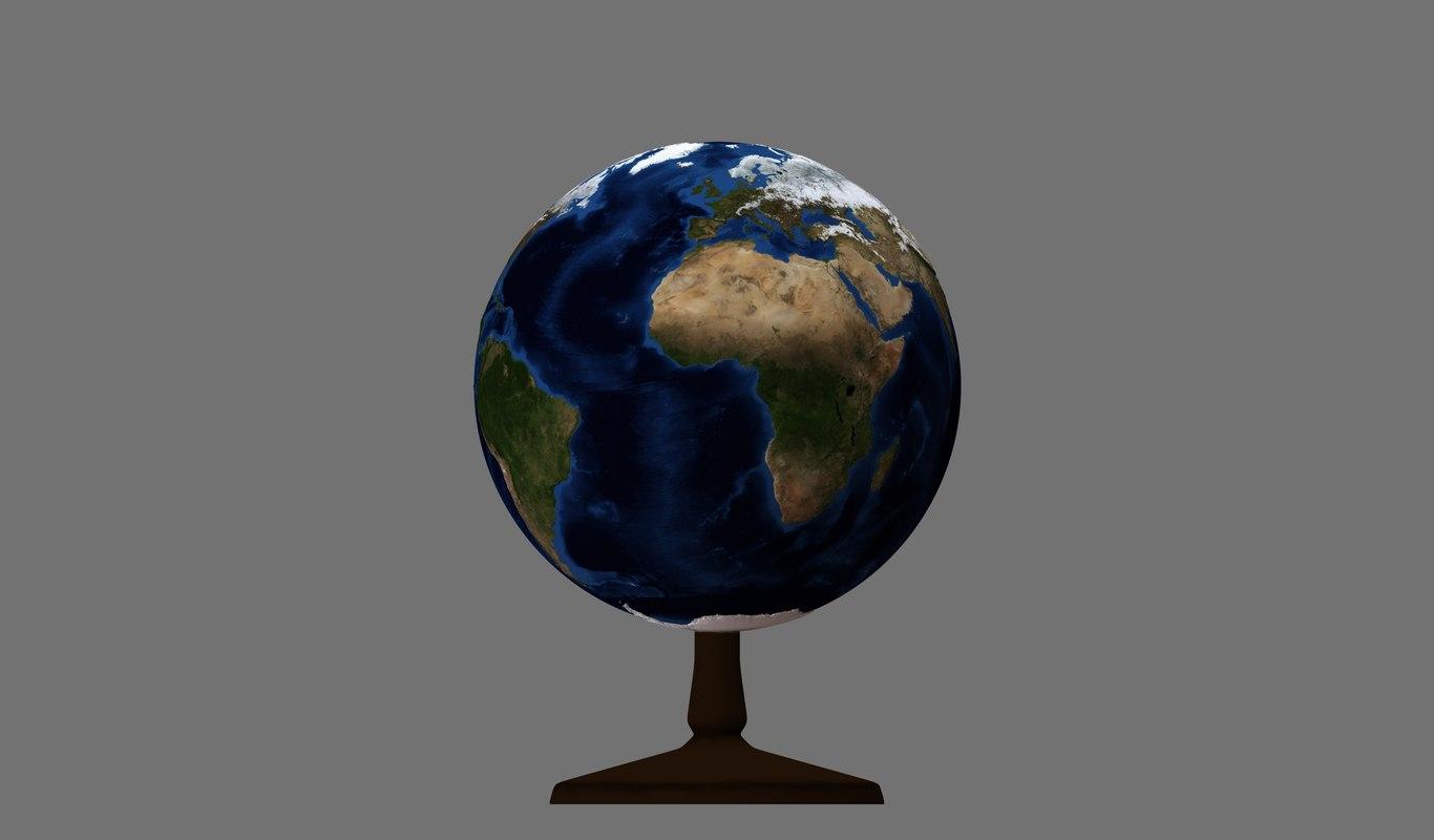 3D earth relief model