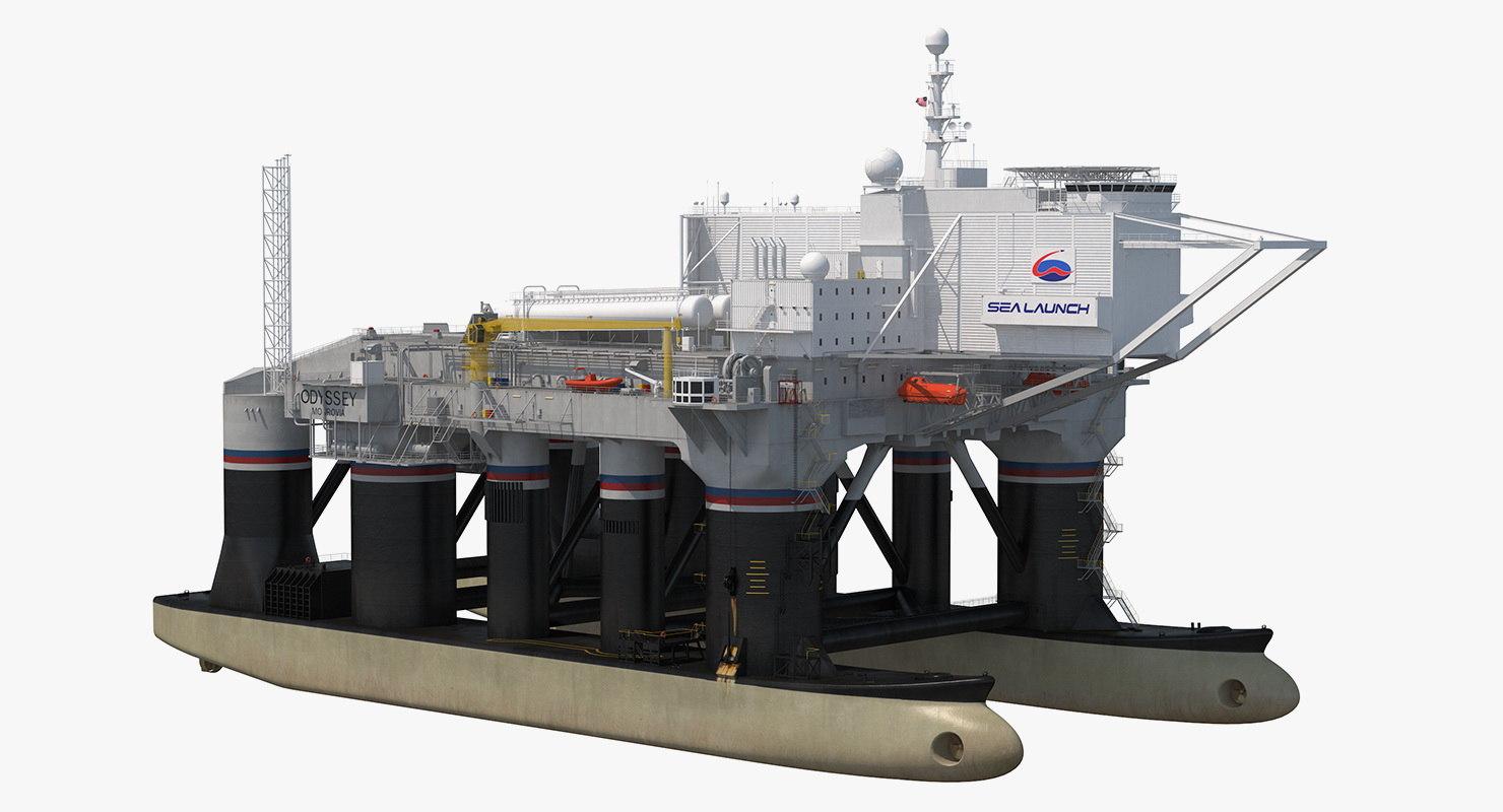 3D mobile spacecraft launch platform model