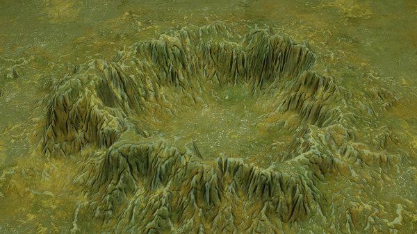3D model crater 3