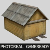 photoreal garage 3D