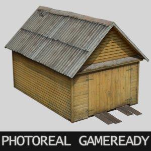 photoreal garage 3D