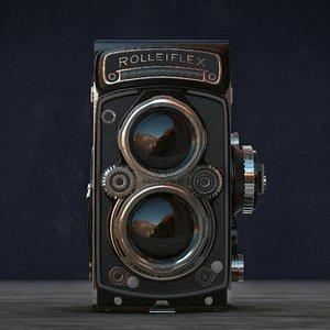 3D rolleiflex camera