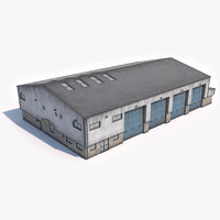 ready industrial building 16 3D model