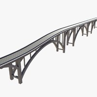 3D concrete bridge model