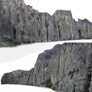 photogrammetry scanned mountain rock 3D model