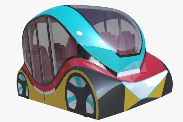 3D autonomous minibus model
