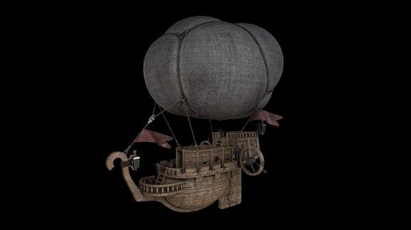 airship ship air 3d c4d