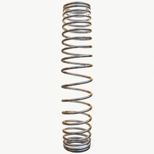 3D metal spiral spring model