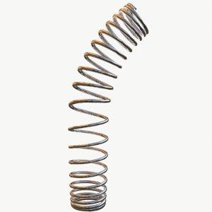 3D model metal spiral spring