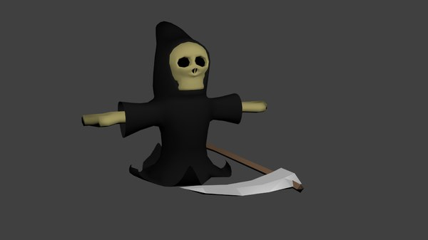 3D personagem morte cartoon model