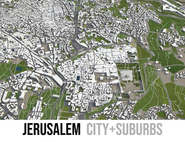 city jerusalem surrounding - 3D model