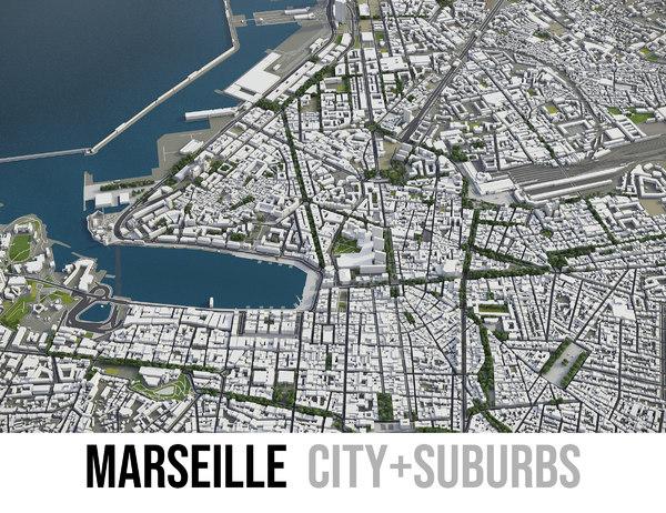 city marseille area - 3D model