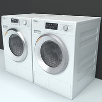 Dryer and washing machine Miele