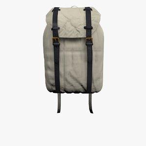 chino canvas rucksack bag 3D model